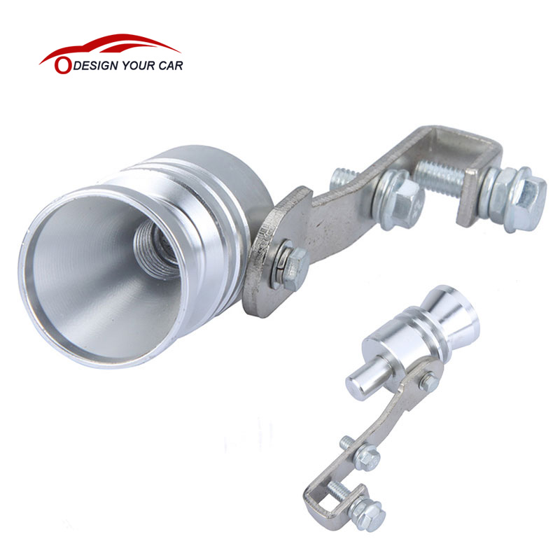 KKmoon Turbo Sound Whistle Exhaust Pipe Tailpipe BOV Blow-off Valve Simulator Aluminum Silver L