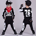 Ternos dos esportes das crianças crianças treino meninos roupas 4-13 T crianças carta roupas hip-hop terno para meninos adolescentes roupas meninas