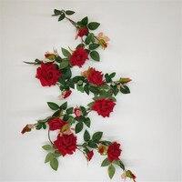 one rose flower vine artificial red velvet rose vines wall mounted flowers