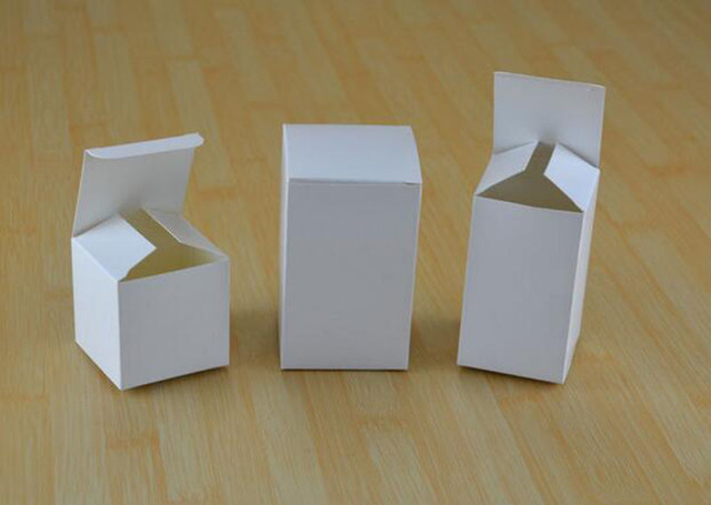 8x8x14cm Wholesale Small Gift White Cardboard Boxes Craft Business