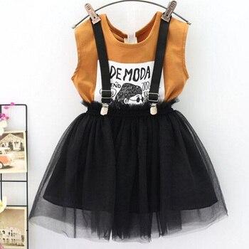 4ca4e68a4 Chándal para niños conjuntos de ropa para niñas 2019 ropa de verano para  niñas camiseta + falda 2 piezas conjuntos de ropa para niños traje  deportivo para ...