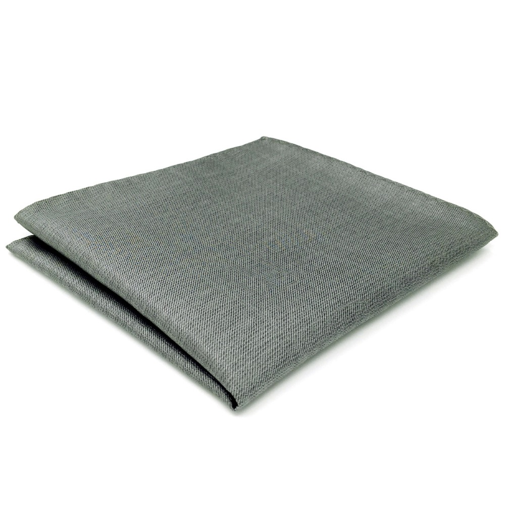 CH20 Solid Gray Silk Mens Pocket Square Fashion Wedding Hanky Handkerchief
