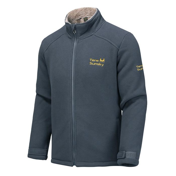 ФОТО New Outdoor Camping Hiking Jacket Men Thicken Fleece Jacket Winter Warm Coat Mens Windproof Sportwear Polar Fleece