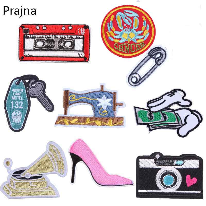 Prajna Embroidered Patches Shoe Patch Retro Money Badges For Iron Apparel Accessories Art And Craft Sets Stripe Sew On Label C