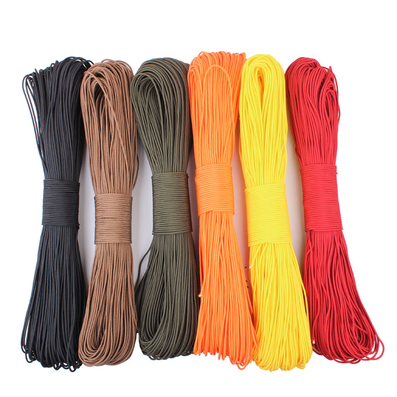 Image 2 - Paracord 2mm one stand Cores Paracord for Survival Parachute Cord Lanyard Camping Climbing Camping Rope Hiking-in Paracord from Sports & Entertainment