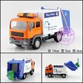 Candice guo mini car model clean up city garbage truck Electronic pull back sound light Children's toy children christmas gifts