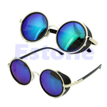 Sunglasse Cyber Goggles Steampunk 50s Round Glasses Vintage Retro Style Blinder