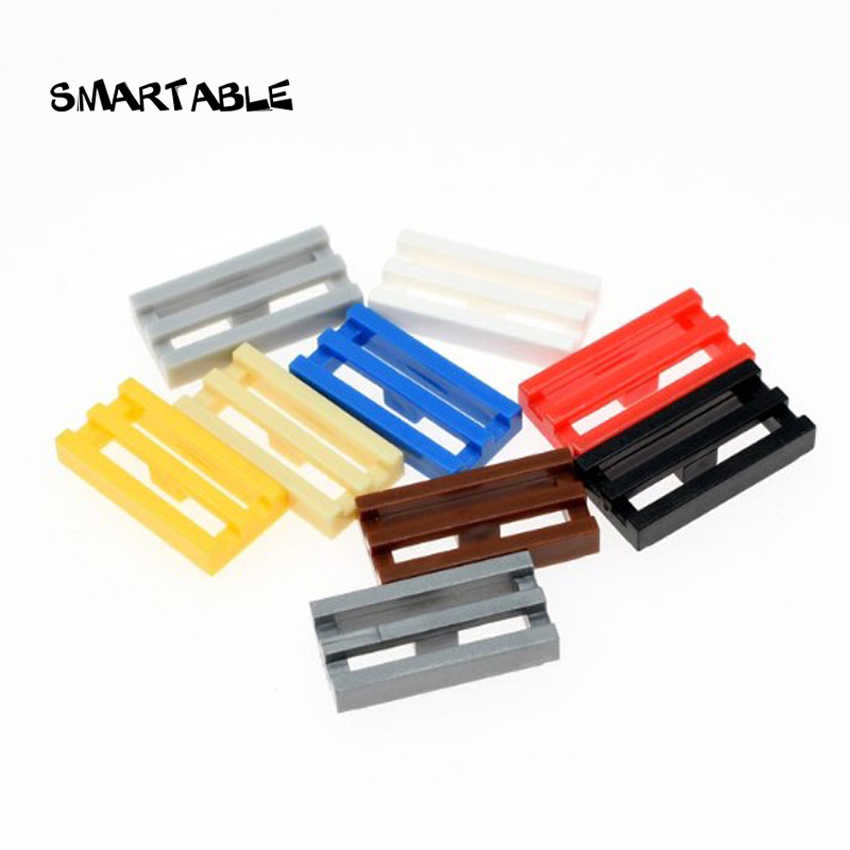Smartable Plate Grille 1X2 Building Blocks Parts DIY Creative Toy For Child Compatible 2412b /30244 GIFT Toys 200pcs/lot