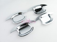 Door Handle Bowl Insert Overlay Trim ABS 2009-2012 2013-2014 2015-2016 Detector Chrome Car Styling For Audi Q5 Accessories стоимость