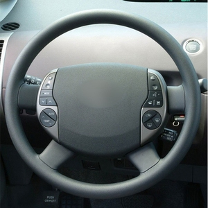 Image 2 - Black Steering Cover Artificial Leather Car Steering Wheel Cover for Toyota Prius 20(XW20) 2004 2005 2006 2007 2008 2009