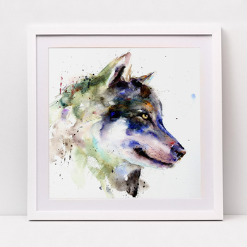 The lone wolf map abstract modern  decorative 40X50CM painting watercolor paintings minimalist Home Furnishing jewelry