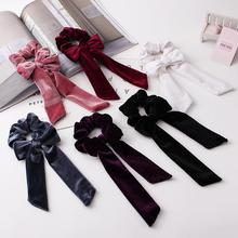 6 Pcs/set Bowknot Elastics Hair Bands Rope Ties Bow Ponytail Holder for Girls