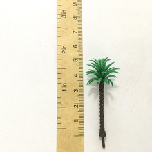 купить 5 CM high scale palm trees Cocos nucifera ABS plastic model palm trees for scenery train layout constructions по цене 781.57 рублей