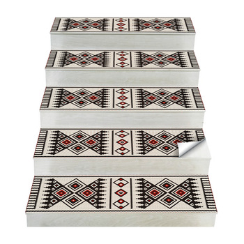 Arabian Style Tile Decor Stair  Stickers Self Adhesive Waterproof Wallpaper for DIY Staircase Renovation PVC Decal Ladder Mural