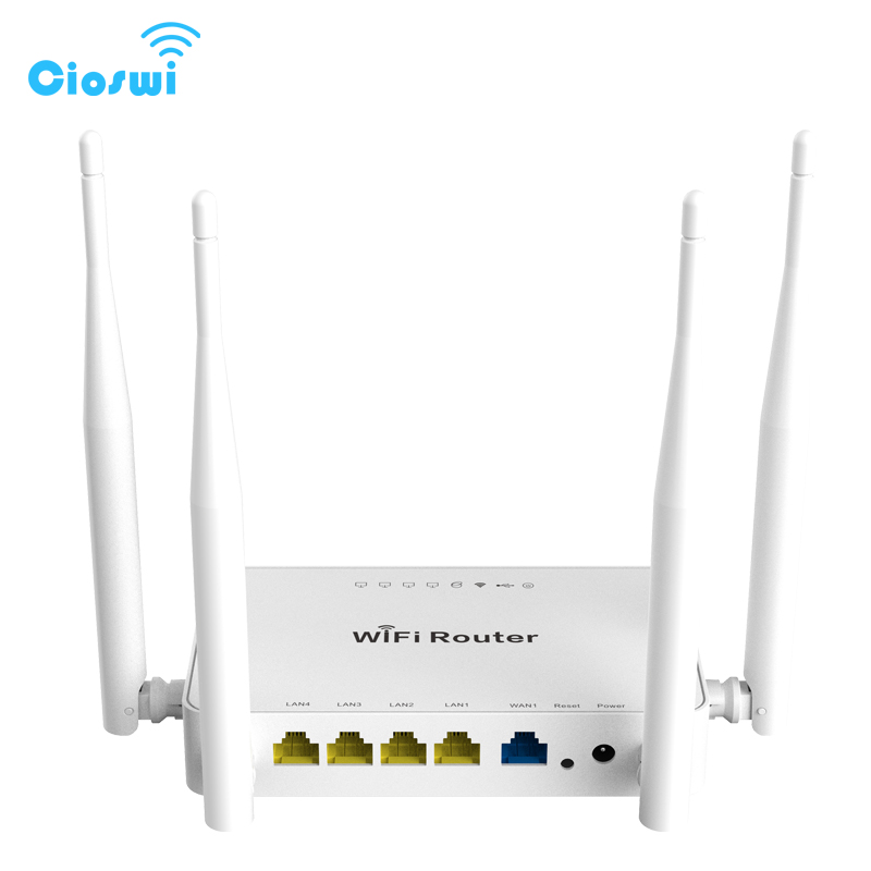 Cioswi Roteador Sem Fio Wi-fi 300 Mbps 802.11b/g/n MT7620N Chipset Usb repetidor de sinal wi-fi firmware Inglês com openWrt Router