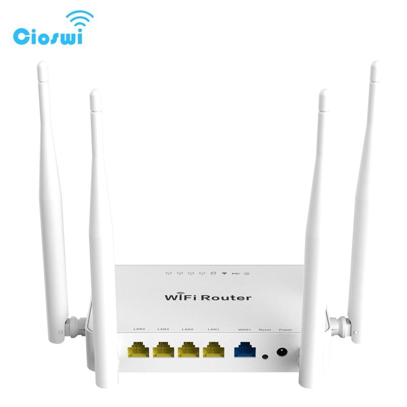 Routeur WiFi sans fil Cioswi 300 Mbps 802.11b/g/n Chipset MT7620N répéteur de signal wifi Usb firmware anglais avec routeur OpenWrt