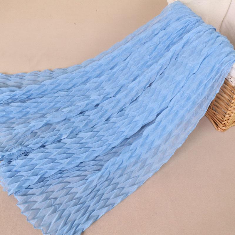 NEW design crinkle zig zag cotton viscose shawls pleat hijab drape muslim wrap headband 19 color