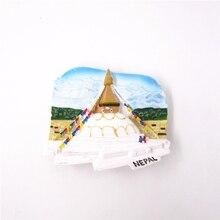 купить!  Непал Декорации Страны Магнит На Холодильник Сувенир Ручная Роспись 3D Смола Холодильник Магнитная