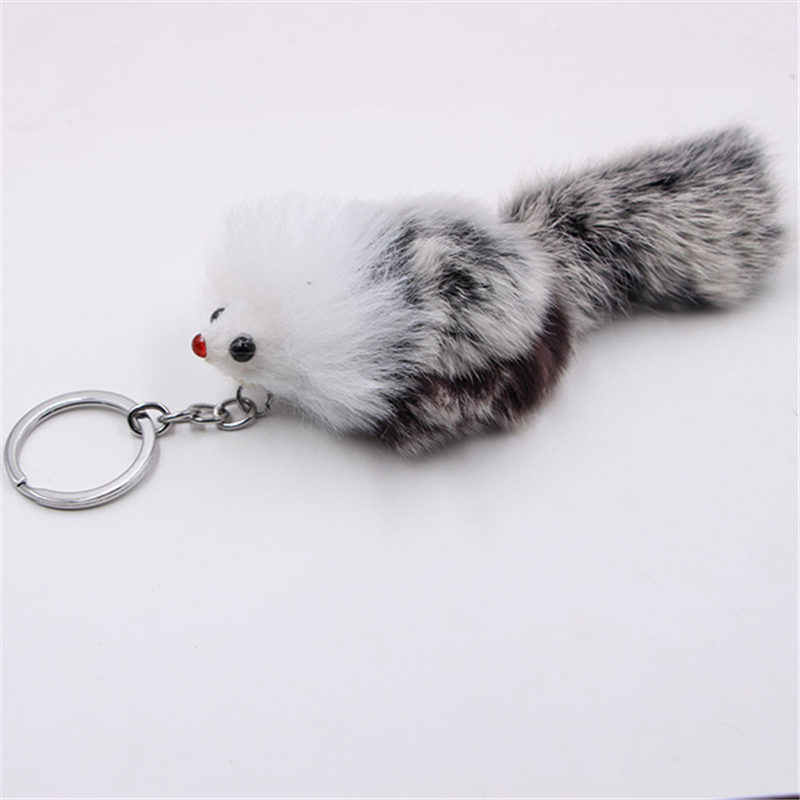 1 PC Wanita Gantungan Kunci Fox Fur Ball Mobil Liontin Tas Gantungan Kunci Gantungan Kunci Pompom Bola Dekorasi Tas Mobil Ornamen