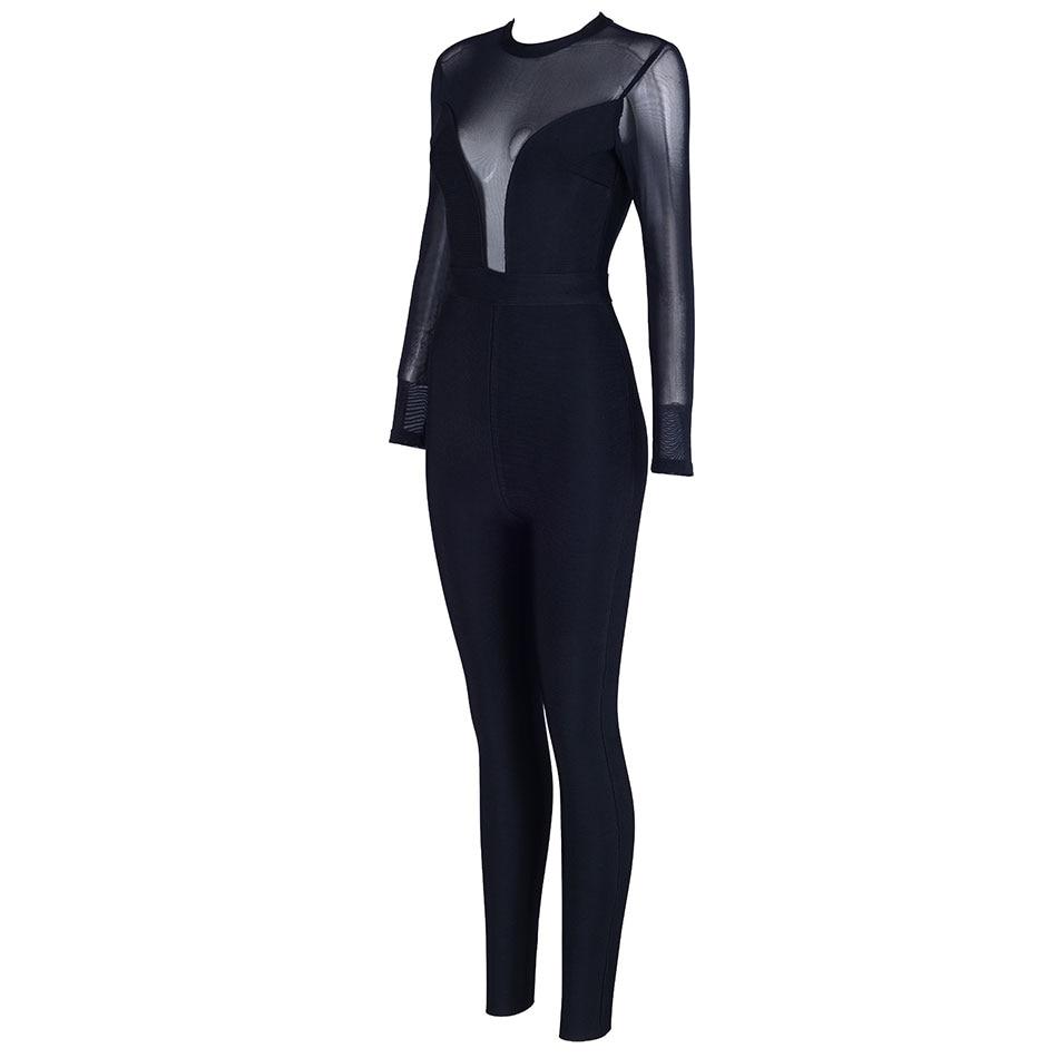 Clubwear Évider Hiver Combinaisons Dressbird Moulante Noir Automne AqBxwt1