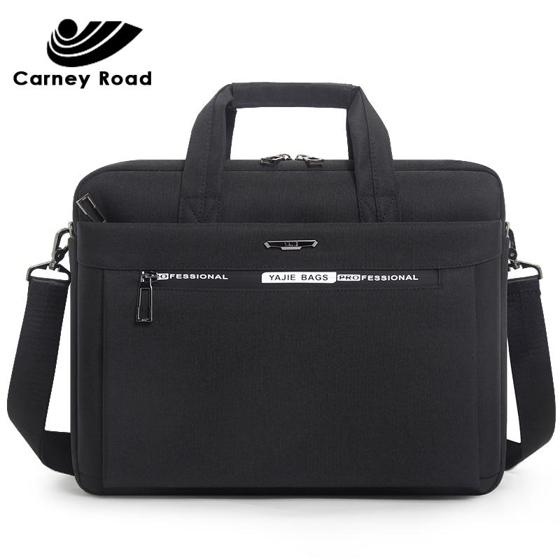 2019 Brand Men's Briefcase Bag Oxford Waterproof 15.6 Inch Laptop Bag Men Business Handbag Document Office Messenger Bag For Men