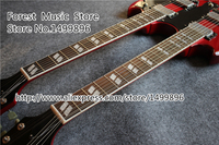 High Quality Red Double Neck China Guitar 6 String & 12 String SG Electric Guitar For Sale