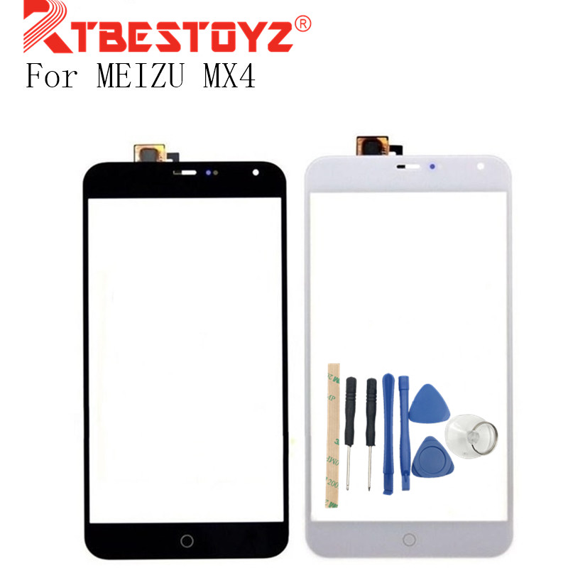 RTBESTOYZ 5.5 Inch Touchscreen Sensor For MEIZU MX4 Touch Screen Digitizer Front Glass Len With Tools Black/White