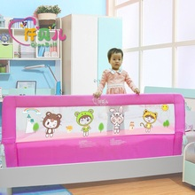 4 Size Blue Pink Color120/150/180/200cm Baby Bed Fence Guardrail Baby Crib Guardrail Bed Rails Bed Buffer-type  Meters General