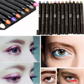 2016 maquiagem profissional Glitter Eye Stick Color Pencil Waterproof Colorful Shining Glitter White Eyeliner Pencil