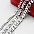 New Mens Womens 5/7/9mm Stainless Steel Link Curb Necklace Chains UN004111203