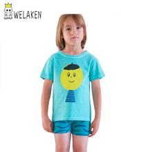Brand 1-6Y 2016 Fashion Summer Children Clothes Kids t Shirt Baby Girl&Boys New Cartoon BOBO Head Tops T-shirt