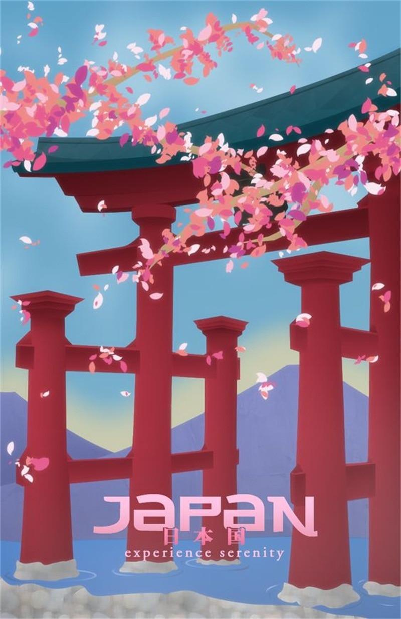 Art Visit Tokyo Japan Travel Poster Vintage Retro Poster Canvas Painting Diy Wall Paper Posters Home Gift Decoration Poster Vintage Poster Vintage Retroretro Poster Aliexpress