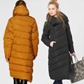 Alta Qualidade de Moda de Nova Tendência Designer de 2016 Mulheres de Inverno Pato Para Baixo Parkas Casaco De Luxo Europeu Feminino Longo Para Baixo Parka Jaquetas
