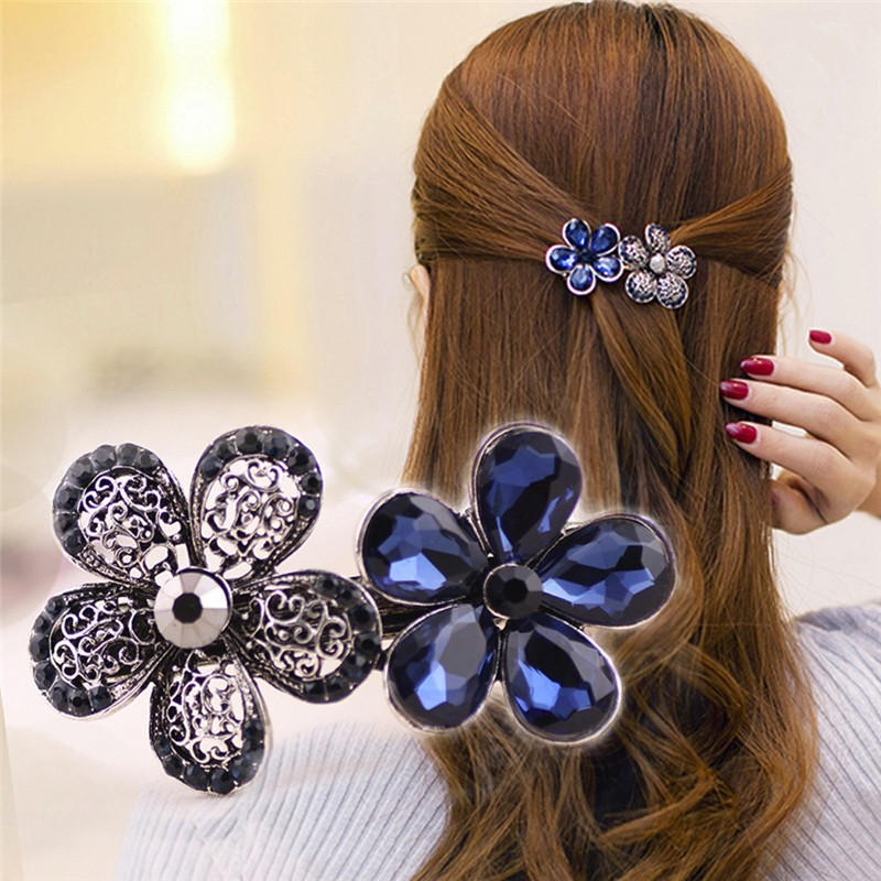 New Arrival Hair Accessories Hairpin Classic Gemstone Hairpin Side Clip summer dress collocation For Women elegant Jewelry#10