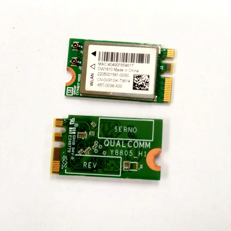 SSEA Wholesale WIFI Bluetooth 4.1 Wireless Card For DELL Inspiron Vostro 3468 DW1810 NGFF 433Mbps QCNFA435