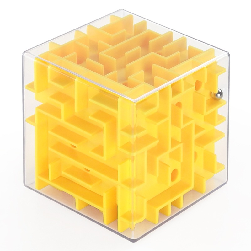 Howplay labyrinth 3D maze magic cube decompression toy, puzzle game maze, 8cm*8cm children education game toys ...