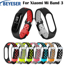 For Xiaomi Mi Band 3 Strap Colorful Wristband Replacement Smart Accessories Band3 Watch Silicone