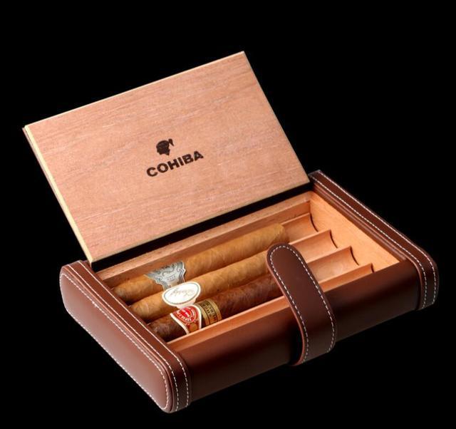 US $75.99 |Nero/marrone Viaggi Portasigari Tubo Holder Viaggi Cigar Humidor  Scatola di Legno di Cedro Legno Humidor Kit XJH020 in Nero/marrone Viaggi  ...