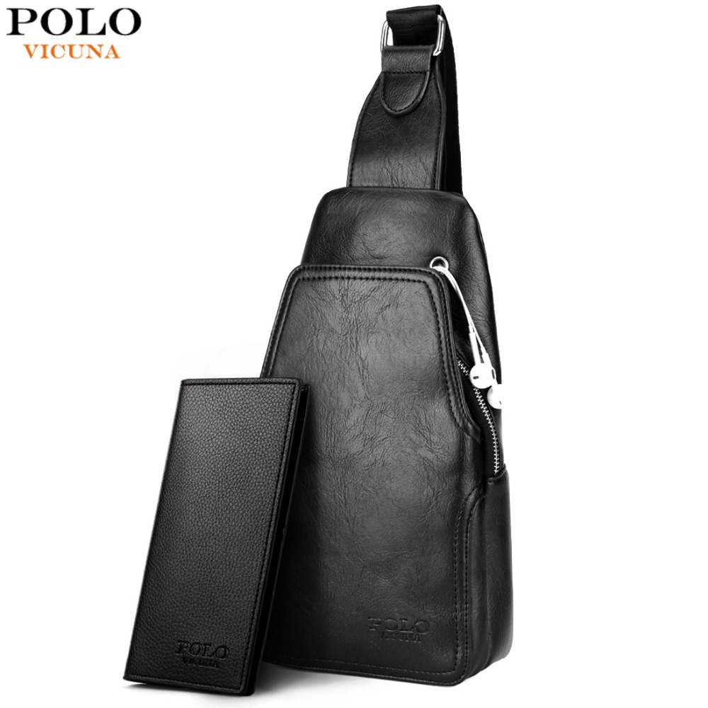 VICUNA POLO Fashion High Quality PU Leather Men Messenger Bag Practical Crossbody  Shoulder Bag For Male 141a9fbb32