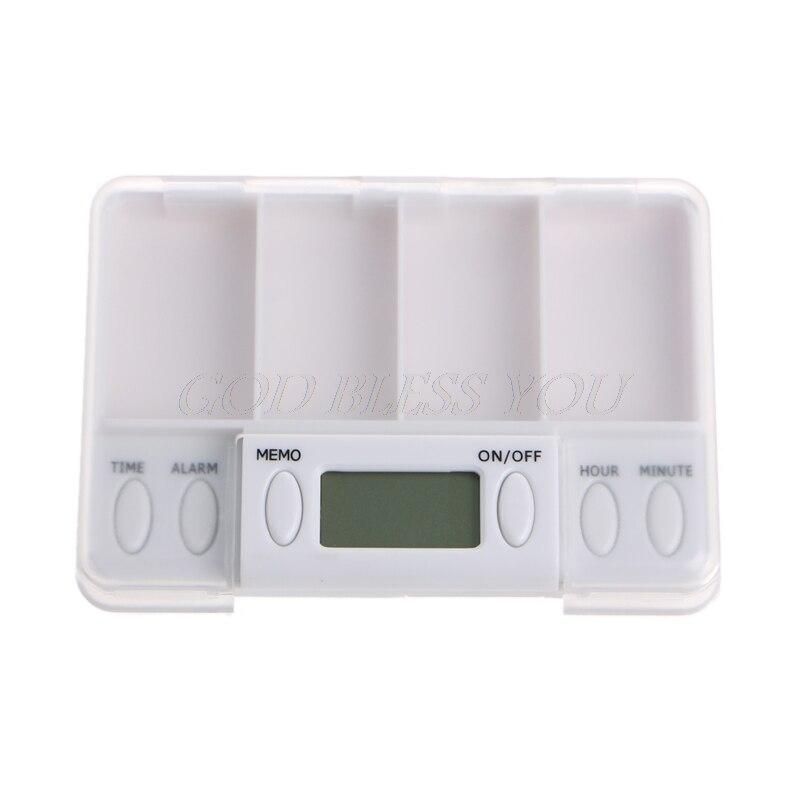 Haut Pflege Werkzeuge Offizielle Website Pillen Erinnerung Medizin Alarm Elektronische Timer Box Fall Veranstalter 4 Grid Hot Pflege Tool Drop Schiff Schönheit & Gesundheit