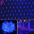 Nuevo 2016 2 M x 2 M 144 leds LED Net Luz de la Secuencia día de Fiesta del festival Luces de Hadas de la Boda del Partido de Navidad Decoración de Jardín de LA UE enchufe