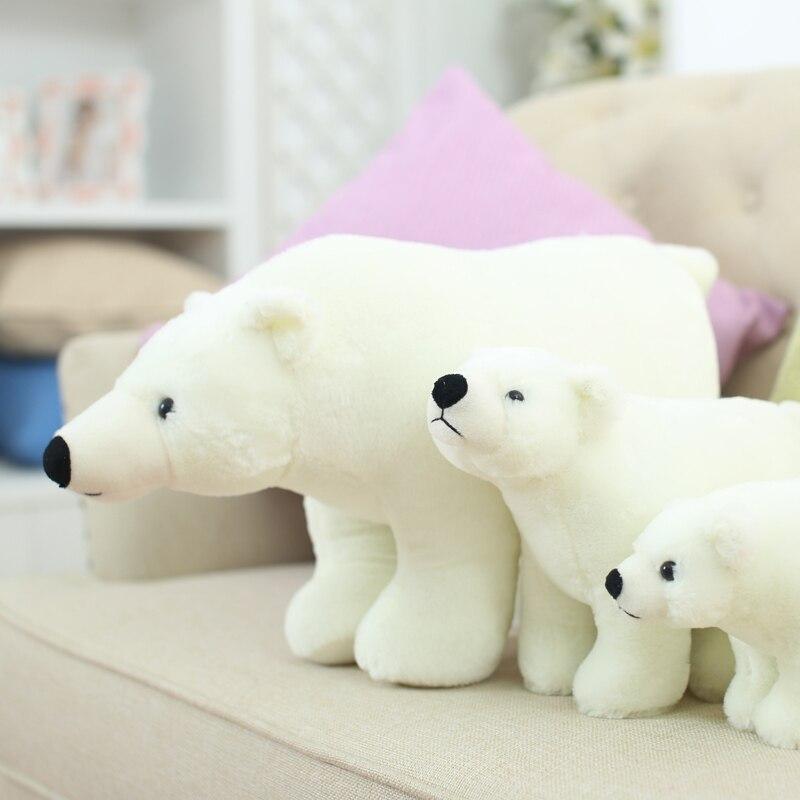 20/25/35/45 cm Super belle famille d'ours polaire en peluche peluche Placating Toy cadeau pour les enfants