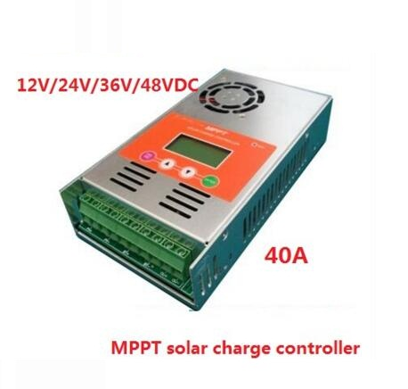 high quality with 2 years warranty 40A MPPT Solar Charge Controller for 12V/24V/36V/48V auto work high quality 12v 24v 48v auto 60a mppt solar charge controller
