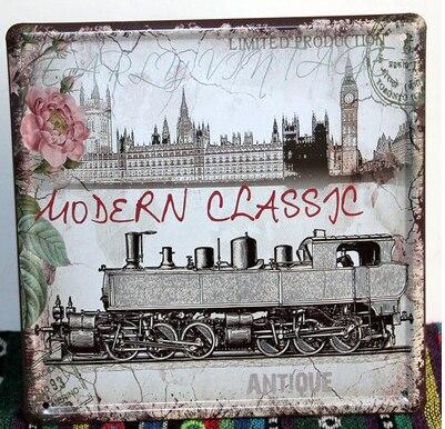 20X20CM London Classical Vintage Home Decor Tin Sign Wall Decor ...