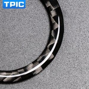 Image 5 - Pegatina para Mercedes Benz Clase C E W205 W213 GLC, parada de arranque de motor de coche, anillo de botón de arranque, moldura de fibra de carbono, accesorios interiores