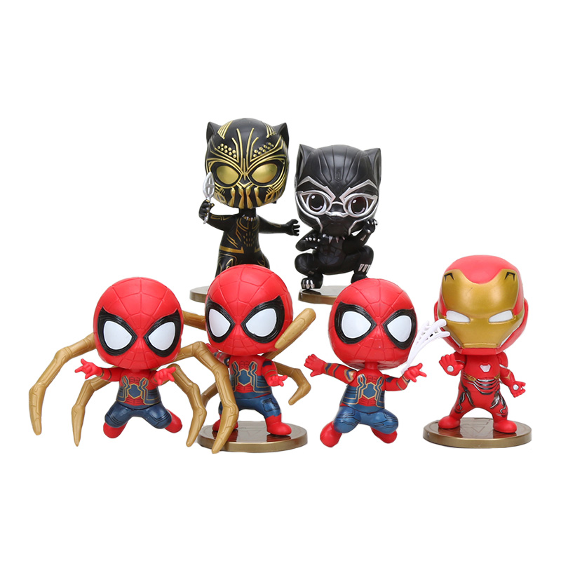 6pcs-set-font-b-marvel-b-font-avengers-infinity-war-spiderman-action-figure-black-panther-pvc-spider-man-figure-collectible-model-toys-gift