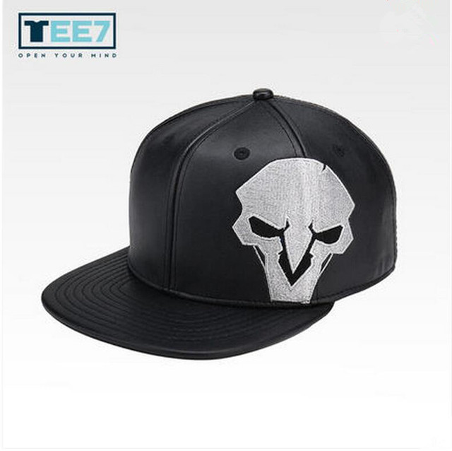 7307517cbad57 TEE7 2017 Hot Game OW PU Baseball Cap hat Reaper Soldier76 Cosplay hat  Christmas gift