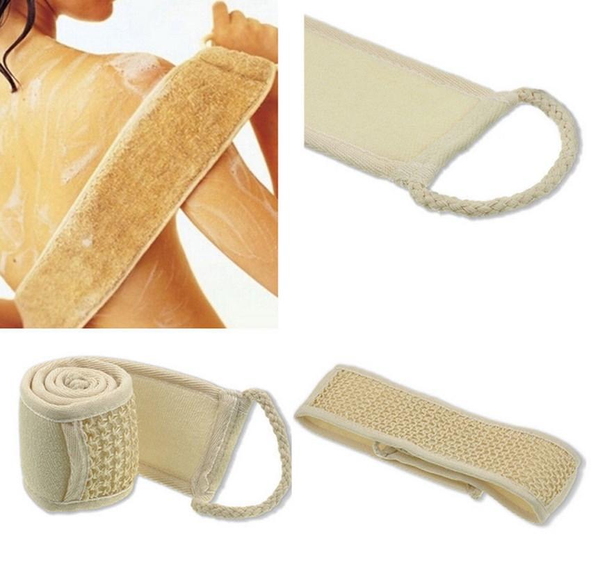 Best Quality 1pc Natural Soft Exfoliating Back Strap Bath Brush