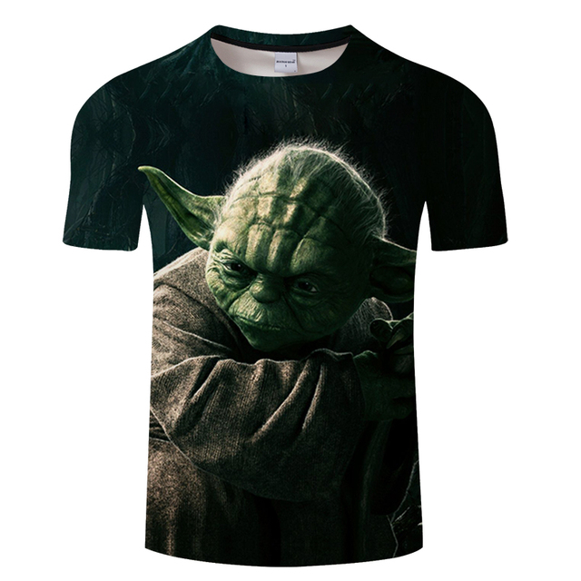 2019 new 3d-printed Star Wars T-shirt men and women summer short-sleeved fun top T-shirt fashion casual wear Asian size