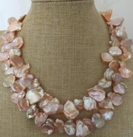 charming round 12 13mm south sea gold pink pearl necklace 38inch 14